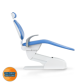 The Belmont Progres Dental Chair is a stand alone chair and can be paired with a seperate ceiling mounted light.