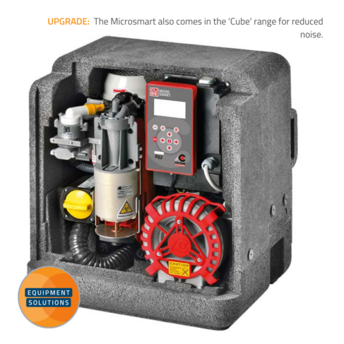 Cattani Micro Smart Suction Pump has an optional sound reducing housing