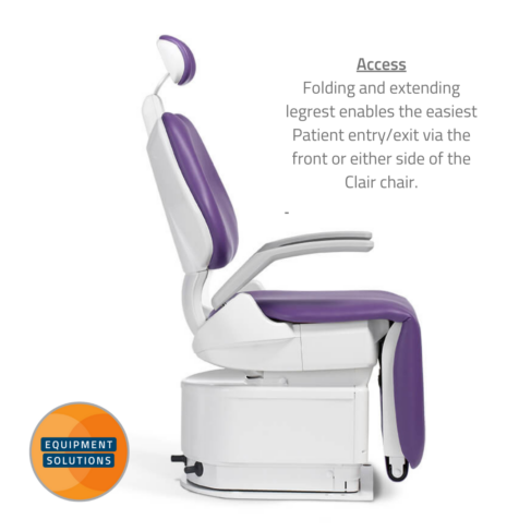 Belmont Clair Kneebreak Chair is a compact unit with superior access.