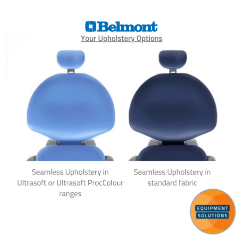 Belmont Voyager Dental Chair has two choices of upholstery