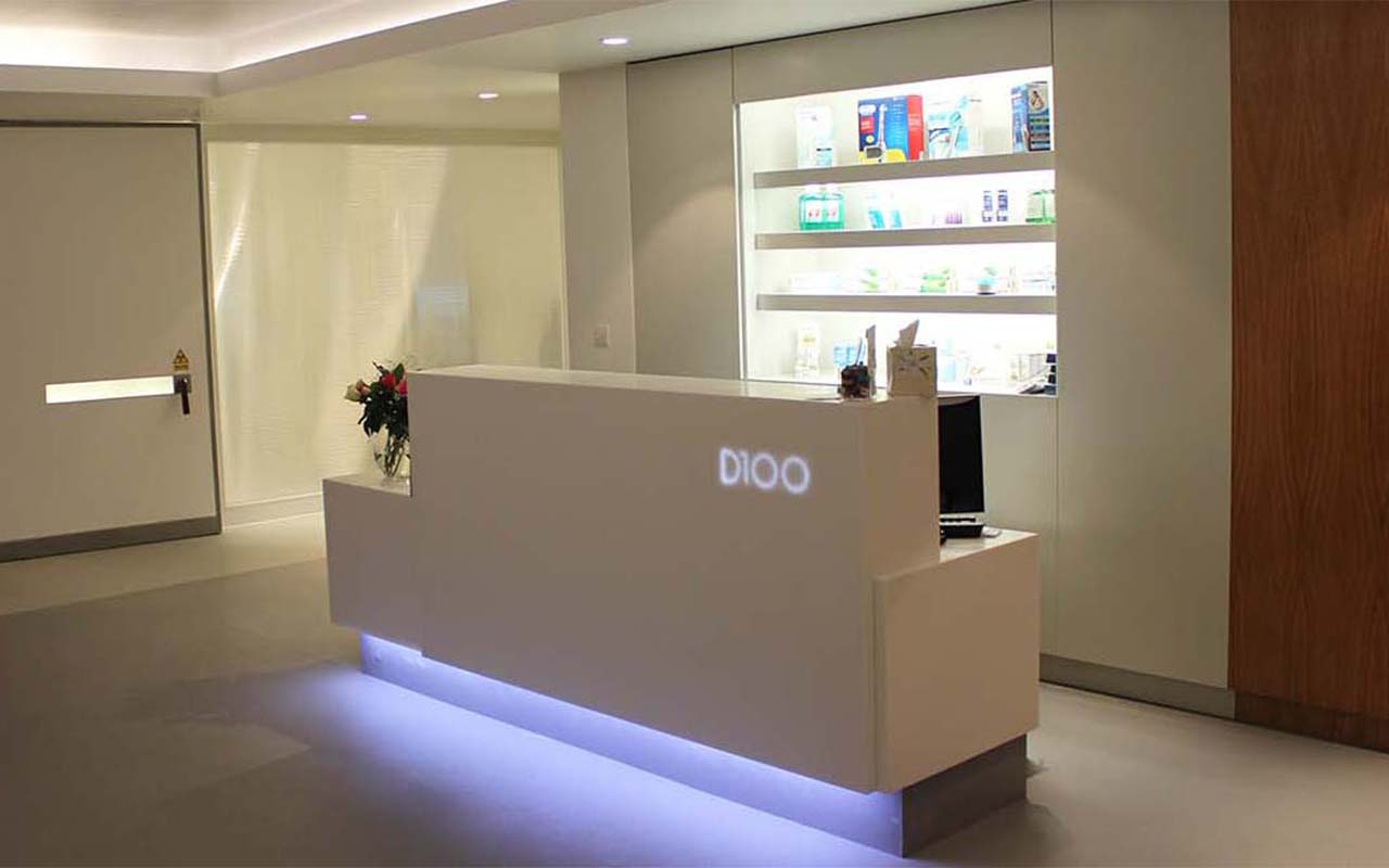 Gentil Bespoke Dental Reception Desks