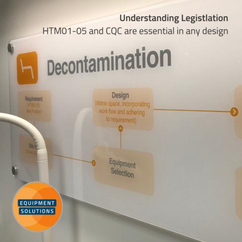 Understanding legistlation is key when choosing dental decontamination cabinetry layout.