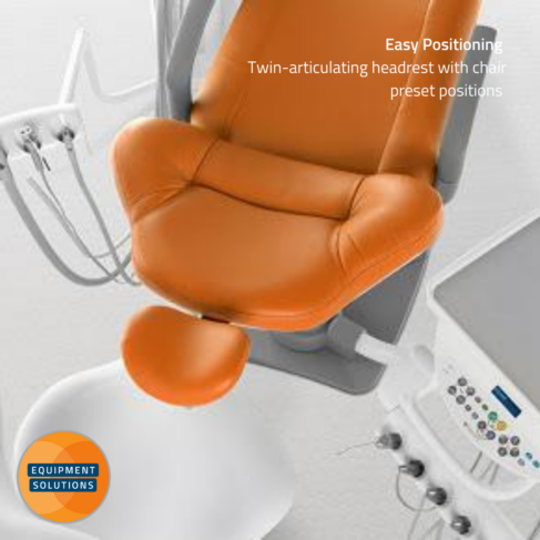 Belmont Compass Dental Chair with its rear mounted delivery allows your nurse to prepare quickly and easily.