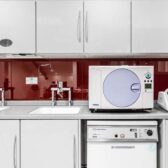 dental decontamination room cabinetry