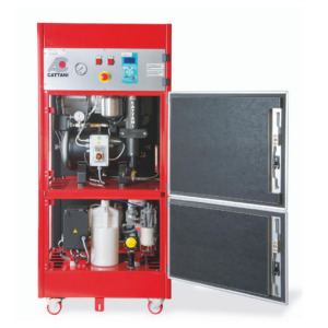 The Cattani Power Tower a suction and compressor in one, for a single surgery