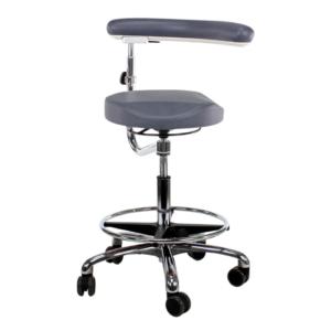 nurses stool with ergo seat and swing arm