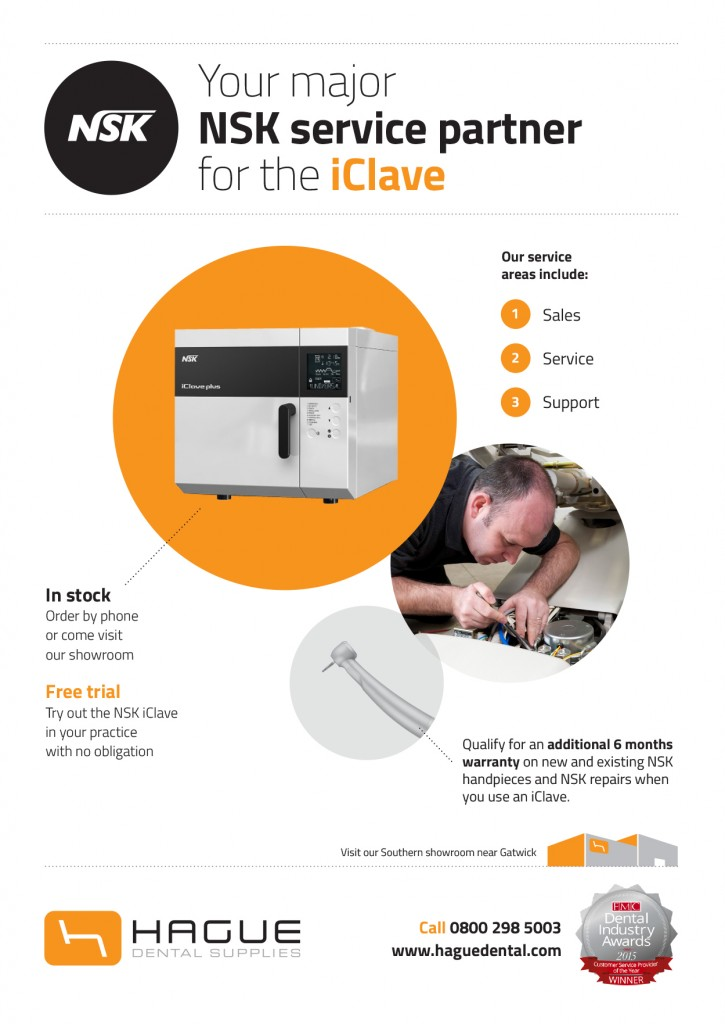 NSK iClave - Trial, Install, Demo and Service - Hague Dental Supplies