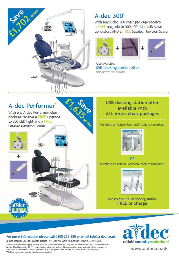 a-dec dental chair offer