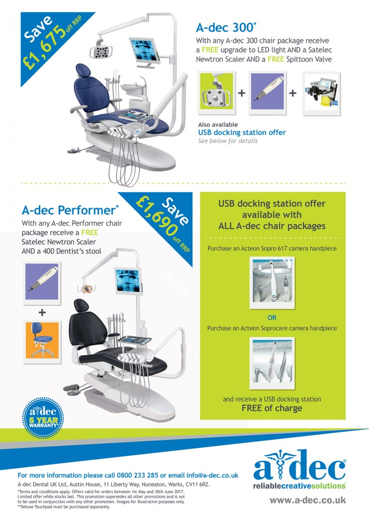 A-dec dental chair offer