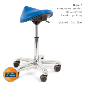 Score Amazone Saddle Stool in seamless Stamskin with tilt