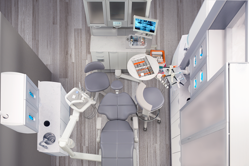 new A-dec 500 dental chair