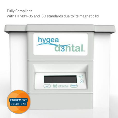 The Hygea Dental is a fully compliant Ultrasonic Bath with a magnetic lid.