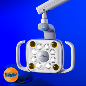A-dec 521 Dental Light offers a stadium effect in the oral cavity.
