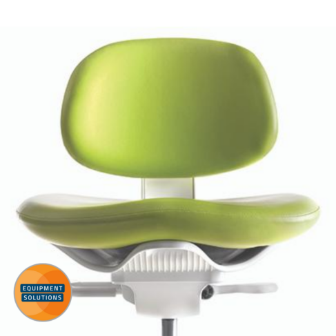 The A-dec 521 Dental Stool supports a positive posture.