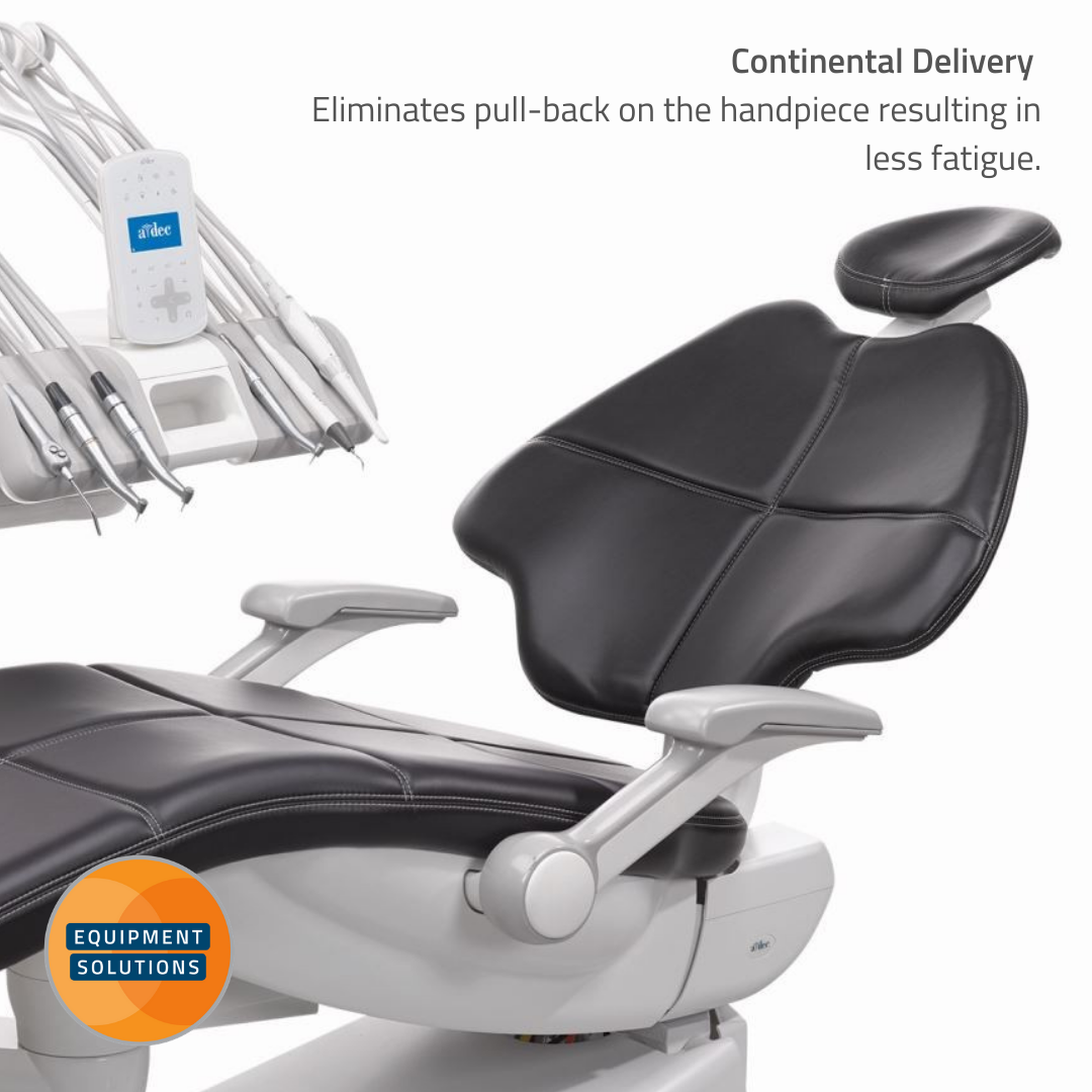 The A-dec 500 with continental is really worth considering for an ergonomic solution