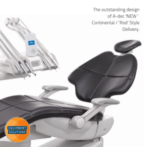 A-dec 500 Dental Chair offers those who prefer a continental system an outstanding ergonomic solution
