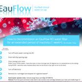 Decommission an EauFlow RO water filter