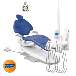A-dec 500 Dental Chair with traditional hanging delivery.