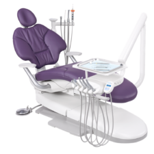 A-dec 400 dental chair with traditional hanging delivery