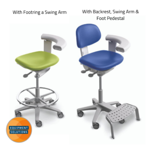 They offer the A-dec 522 Nurses stool with or without backrest.