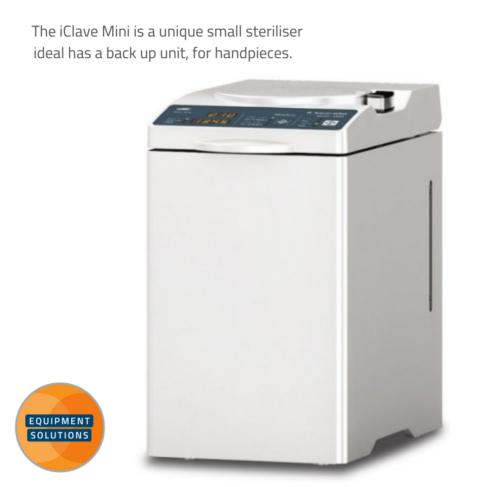 The NSK iClave mini is a small and convenient autoclave is ideal for a back up.