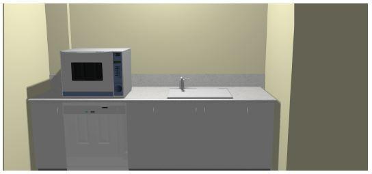 3D Dental Decontamination Room CAD Concept Dirty Side