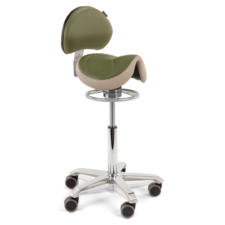 The Score Amazone with Backrest is the wider seat with lumbar support and this has the balance ts from balance ring mechanism