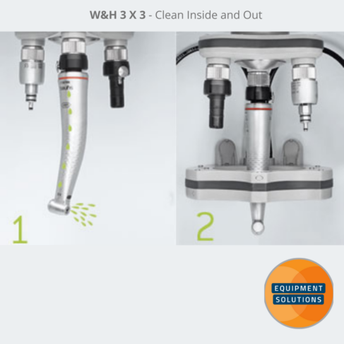 W&H Assistina 3x3 cleans your handpieces inside and out in 6.5 minutes.
