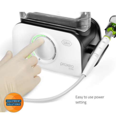 W&H Proxeo Piezo Scaler has an easy to use dial.