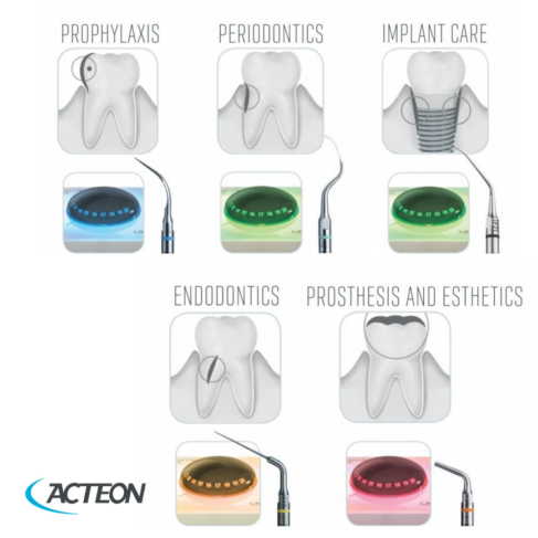 Acteon Newtron P5 B LED Ultrasonic Scaler with a large choice of tips.