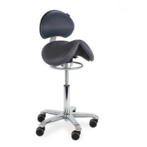 Score Jumper Saddle Stool with Backrest and Balance Mechanism