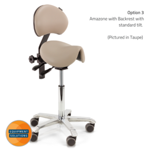 Score Amazone Saddle with Backrest in a seamless upholstery