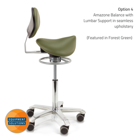 Score Amazone Saddle with Backrest with balance mechanism