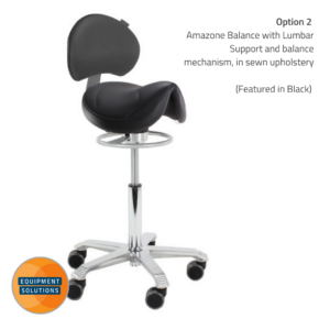 Score Amazone with Backrest with Balance Mechansim in black upholstery