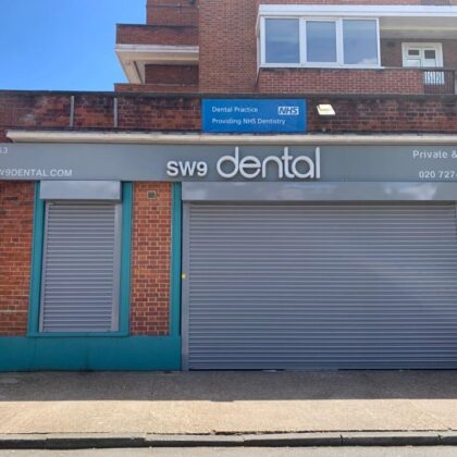 SW9 Dental Exterior with Shutters Down