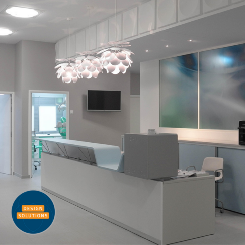 The 'Can I help you' Reception Desk comes in a variety of modern colours