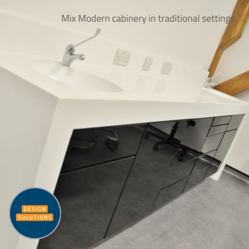 Our FAT Modern Dental Cabinetry looks stunning in modern and traditional settings