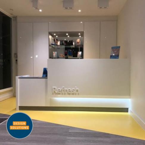 Bespoke Dental Reception Desk was created for this practice in Twickenham