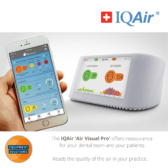 Cleanroom 250 IQAir Air Purifier works perfectly with the Visual Pro for reassurance in your practice