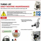 Routine Maintenance on the Cattani Turbo Jet Range
