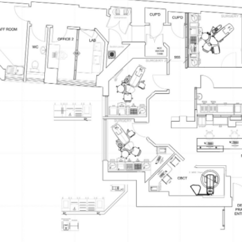 CAD Plan for Dental Practice Refurbishment Projects
