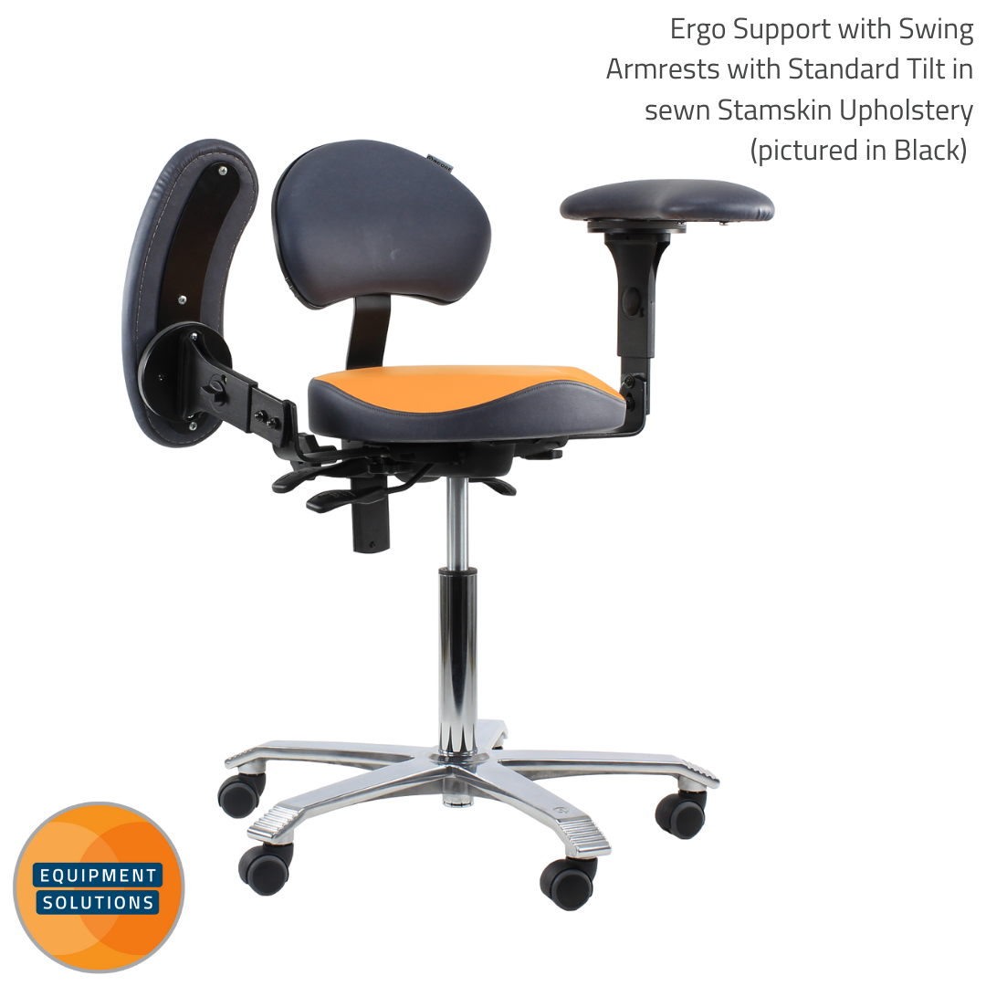 Score Dental Ergo Support with Swing Armrests Stool